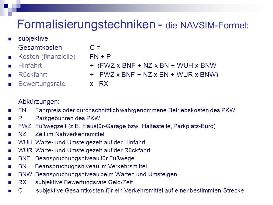Formalisierungstechniken - die NAVSIM-Formel: