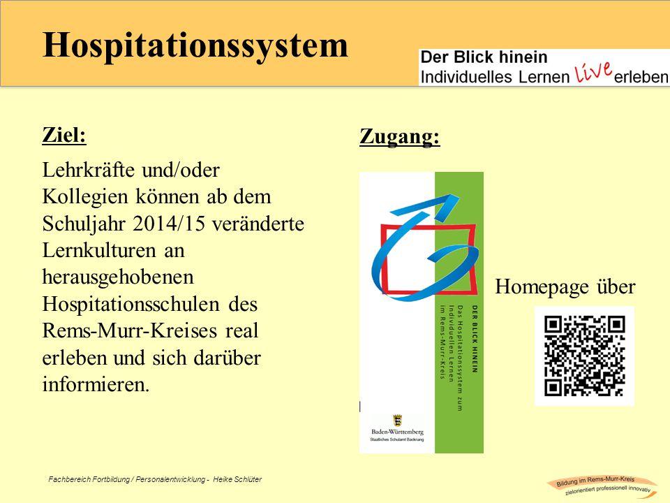 Hospitationssystem Ziel: Zugang: