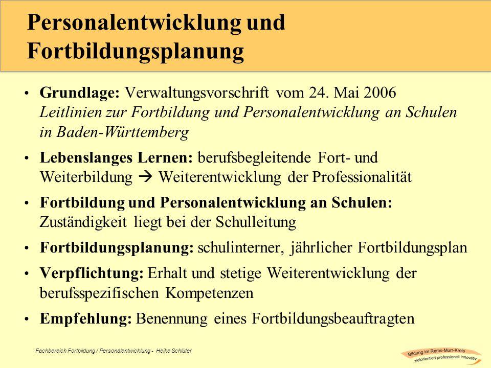 Personalentwicklung und Fortbildungsplanung