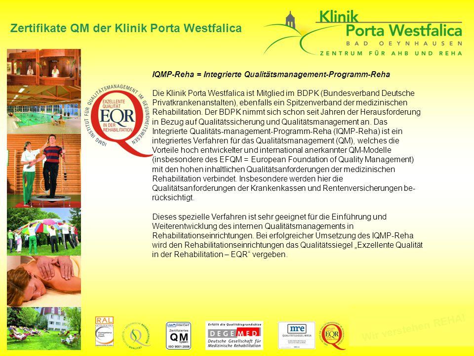 Zertifikate QM der Klinik Porta Westfalica
