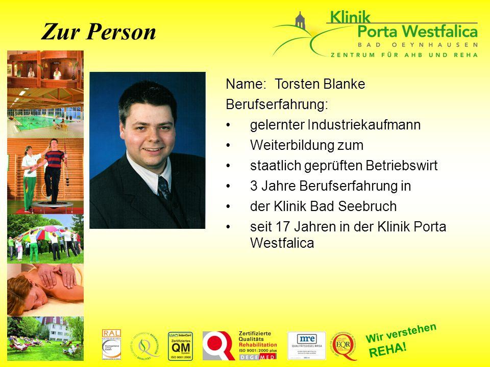 Zur Person Name: Torsten Blanke Berufserfahrung: