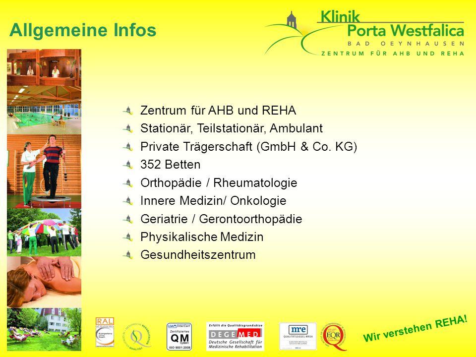 Allgemeine Infos Zentrum für AHB und REHA