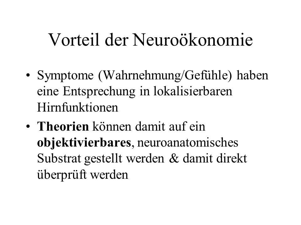 Vorteil der Neuroökonomie