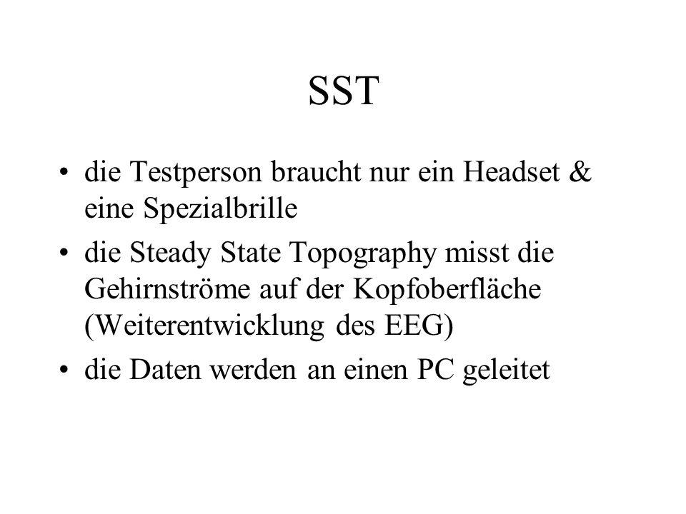 SST die Testperson braucht nur ein Headset & eine Spezialbrille