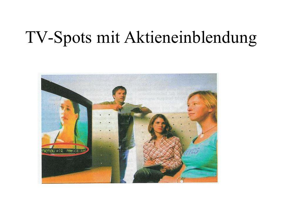 TV-Spots mit Aktieneinblendung
