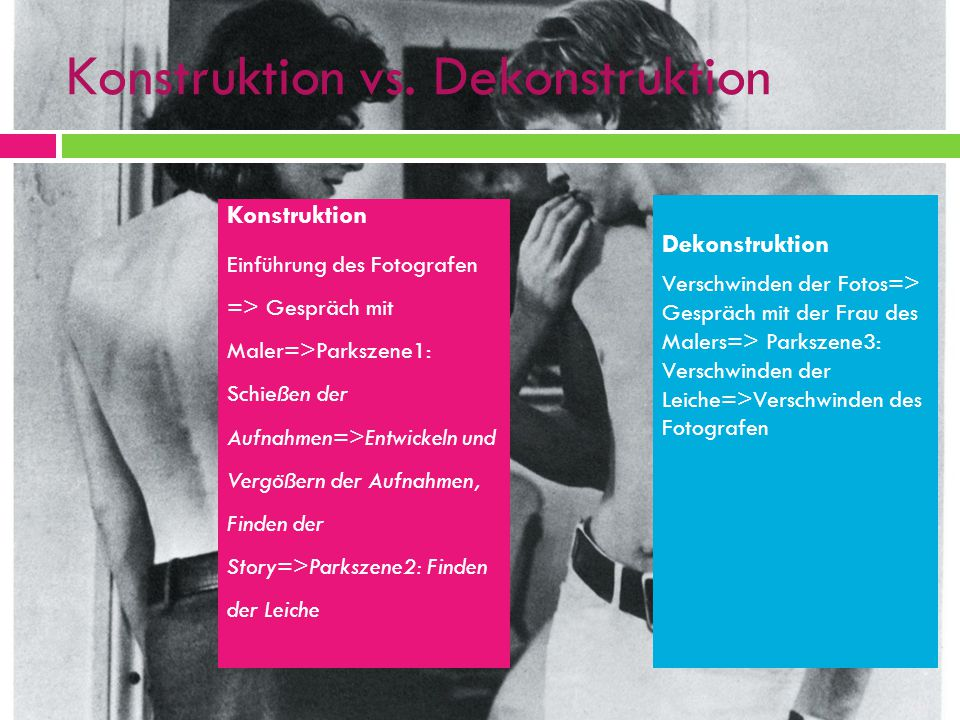Konstruktion vs. Dekonstruktion