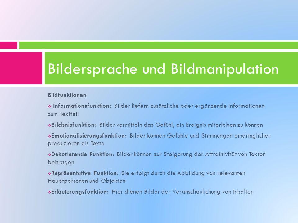 Bildersprache und Bildmanipulation