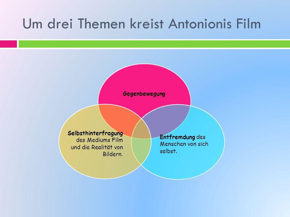 Um drei Themen kreist Antonionis Film