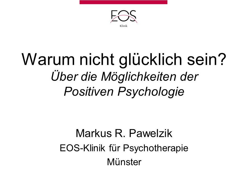 Markus R. Pawelzik EOS-Klinik für Psychotherapie Münster