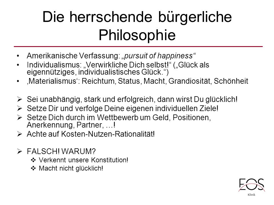 Die herrschende bürgerliche Philosophie
