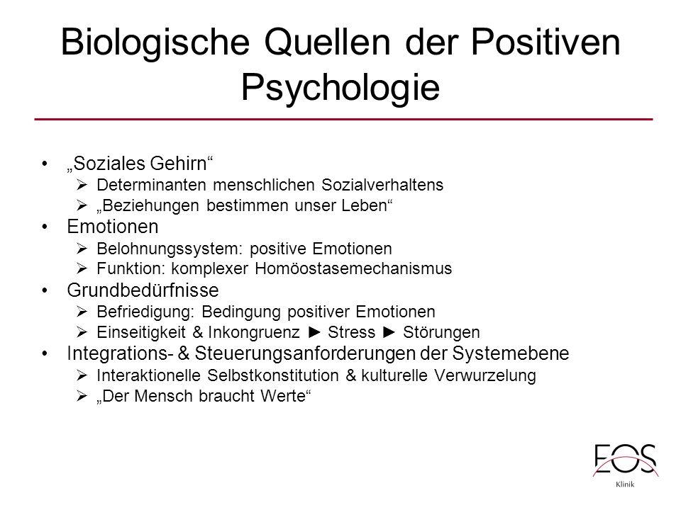 Biologische Quellen der Positiven Psychologie