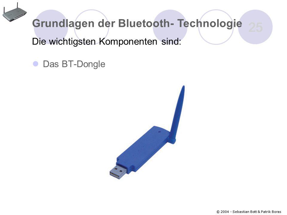 25 Grundlagen der Bluetooth- Technologie
