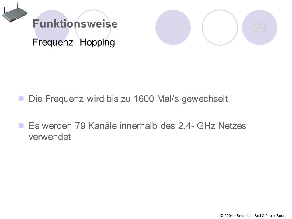 29 Funktionsweise Frequenz- Hopping