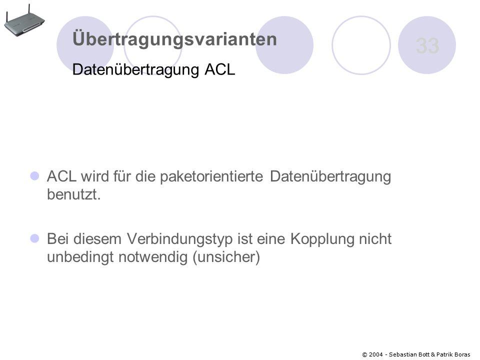 33 Übertragungsvarianten Datenübertragung ACL