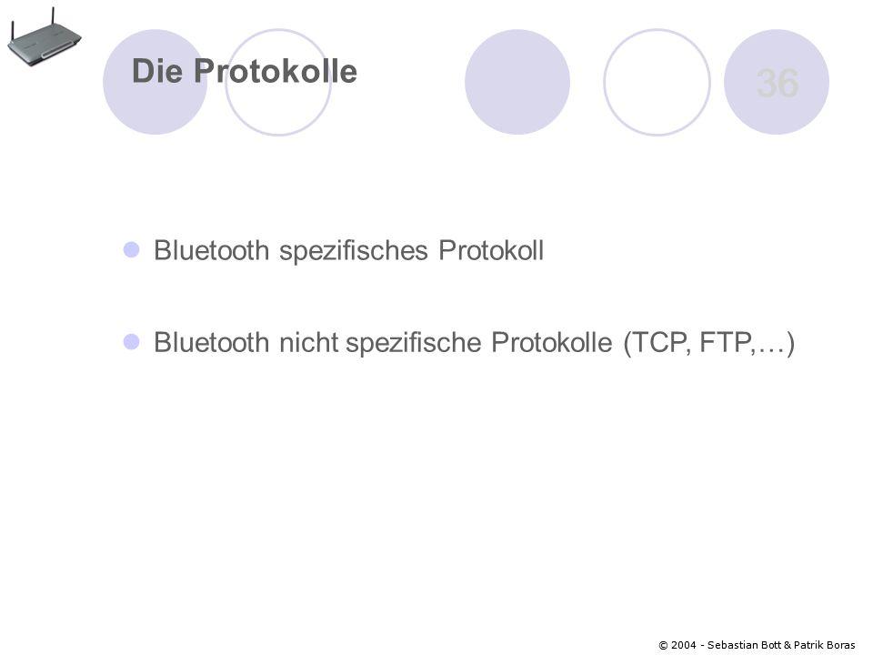 36 Die Protokolle Bluetooth spezifisches Protokoll