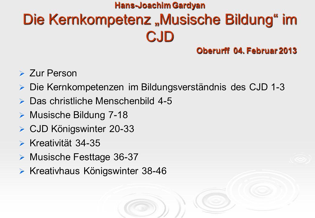 Die Kernkompetenzen im Bildungsverständnis des CJD 1-3