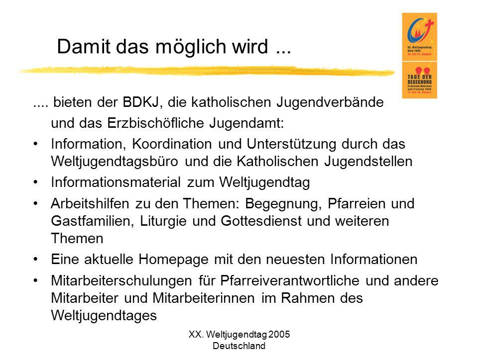 XX. Weltjugendtag 2005 Deutschland