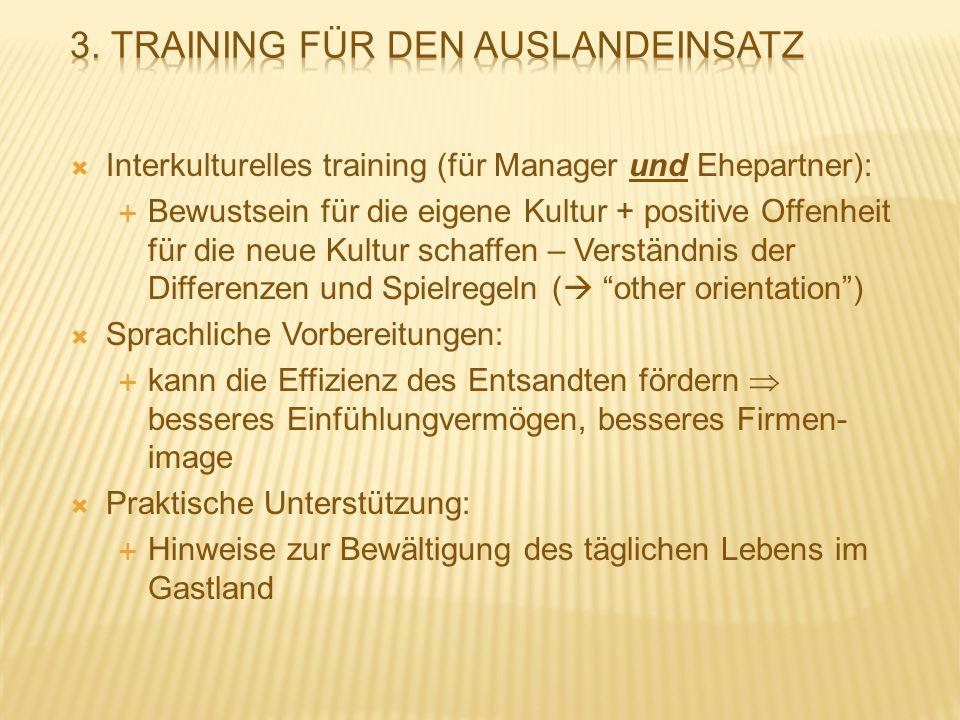 3. Training für den Auslandeinsatz