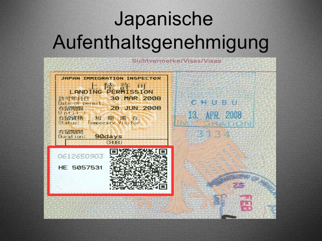 Japanische Aufenthaltsgenehmigung
