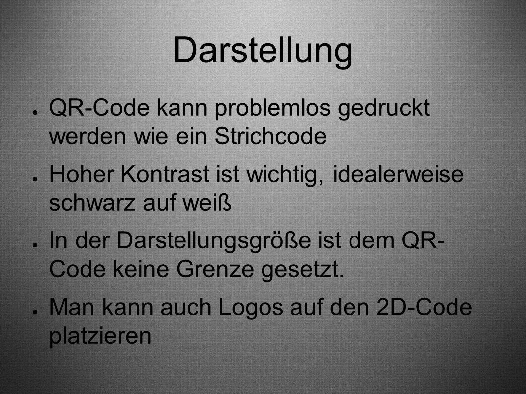 Darstellung QR-Code kann problemlos gedruckt werden wie ein Strichcode