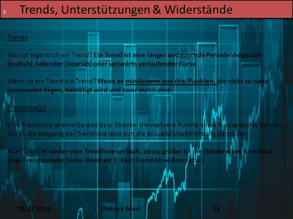 Trends, Unterstützungen & Widerstände