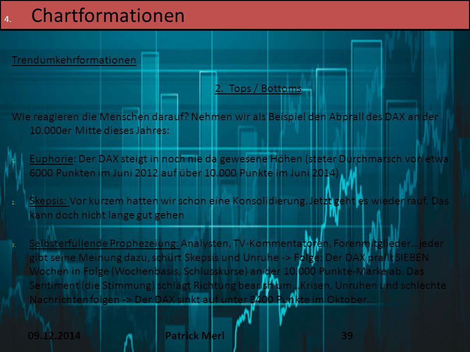 Chartformationen TEXT 16.12.14 Trendumkehrformationen