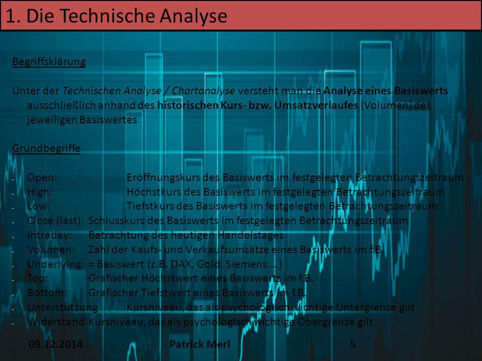 1. Die Technische Analyse