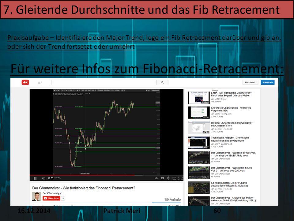 Für weitere Infos zum Fibonacci-Retracement: