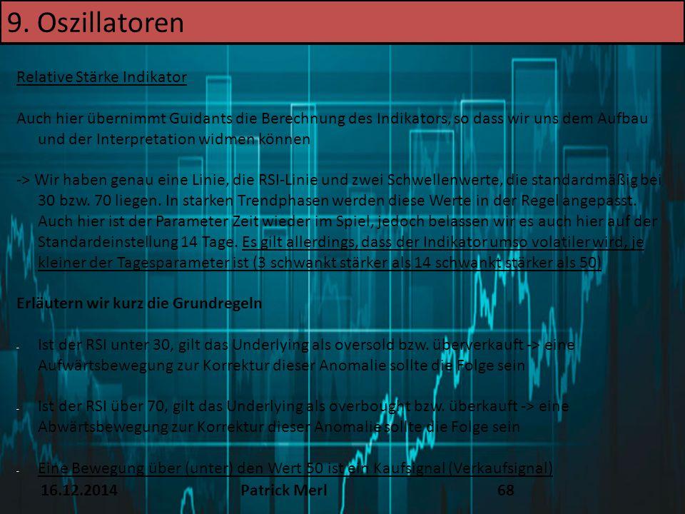 9. Oszillatoren TEXT 16.12.14 Relative Stärke Indikator