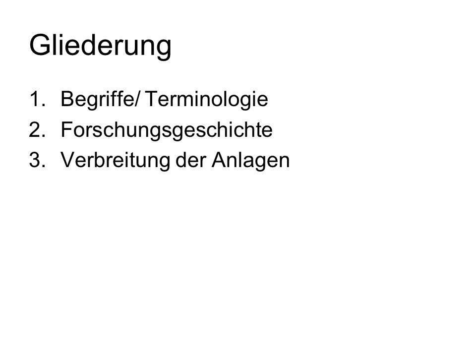 Gliederung Begriffe/ Terminologie Forschungsgeschichte