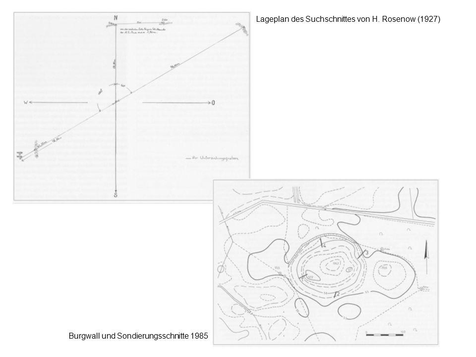 Lageplan des Suchschnittes von H. Rosenow (1927)
