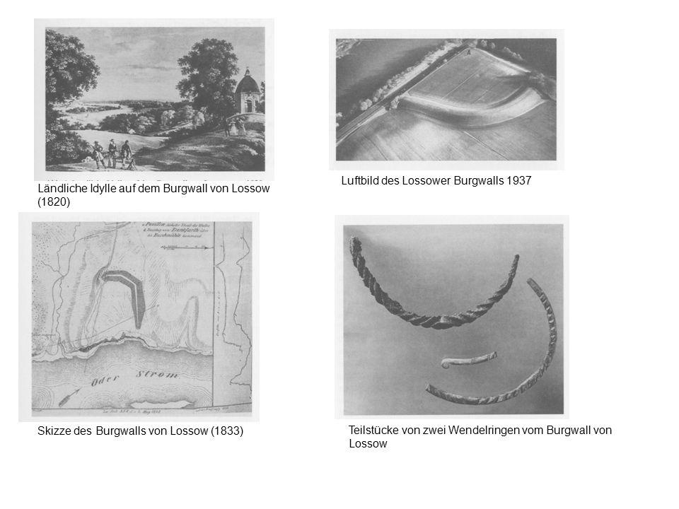 Luftbild des Lossower Burgwalls 1937