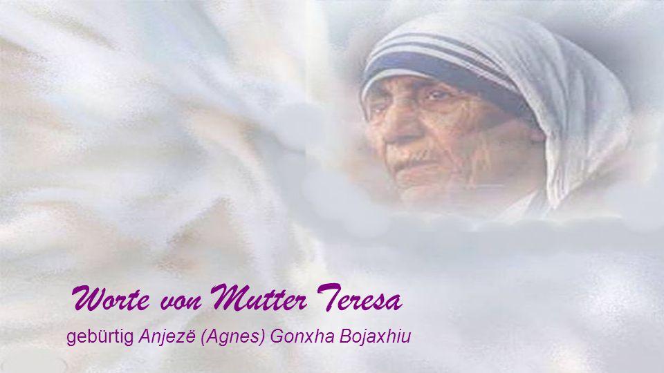 Worte von Mutter Teresa
