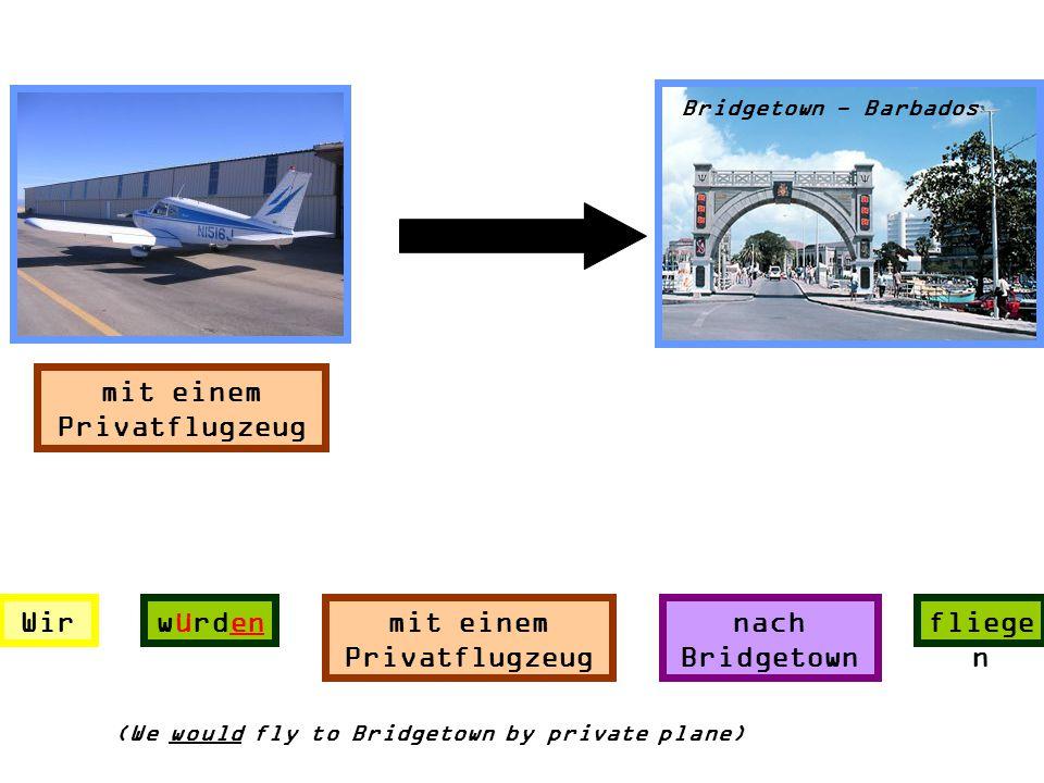 mit einem Privatflugzeug mit einem Privatflugzeug