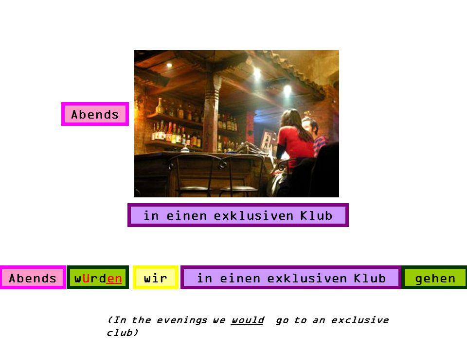 in einen exklusiven Klub in einen exklusiven Klub