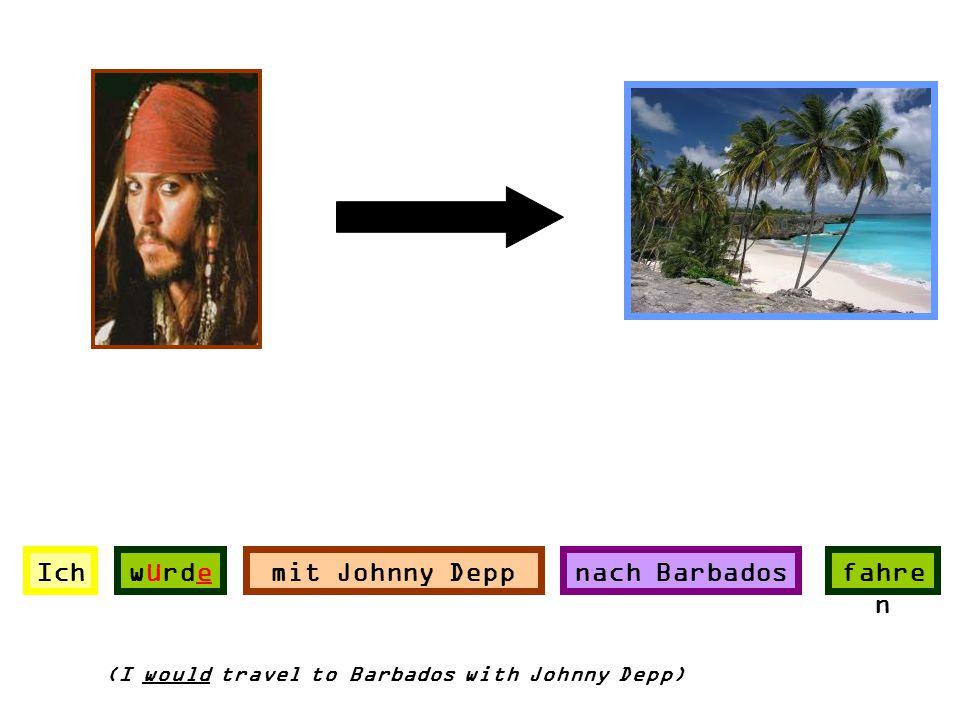 Ich würde mit Johnny Depp nach Barbados fahren