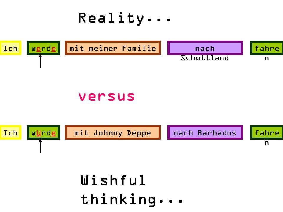 Reality... versus Wishful thinking... Ich werde mit meiner Familie