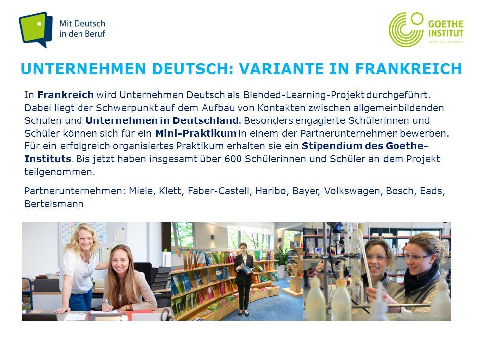 Unternehmen Deutsch: variante in Frankreich