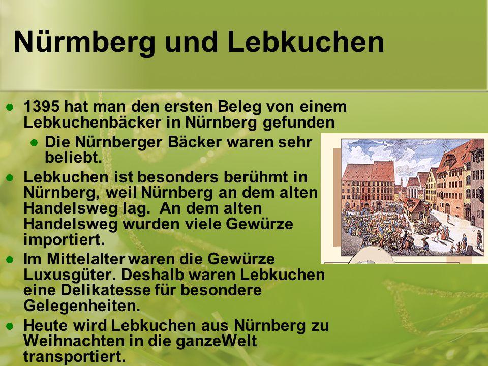 Nürmberg und Lebkuchen