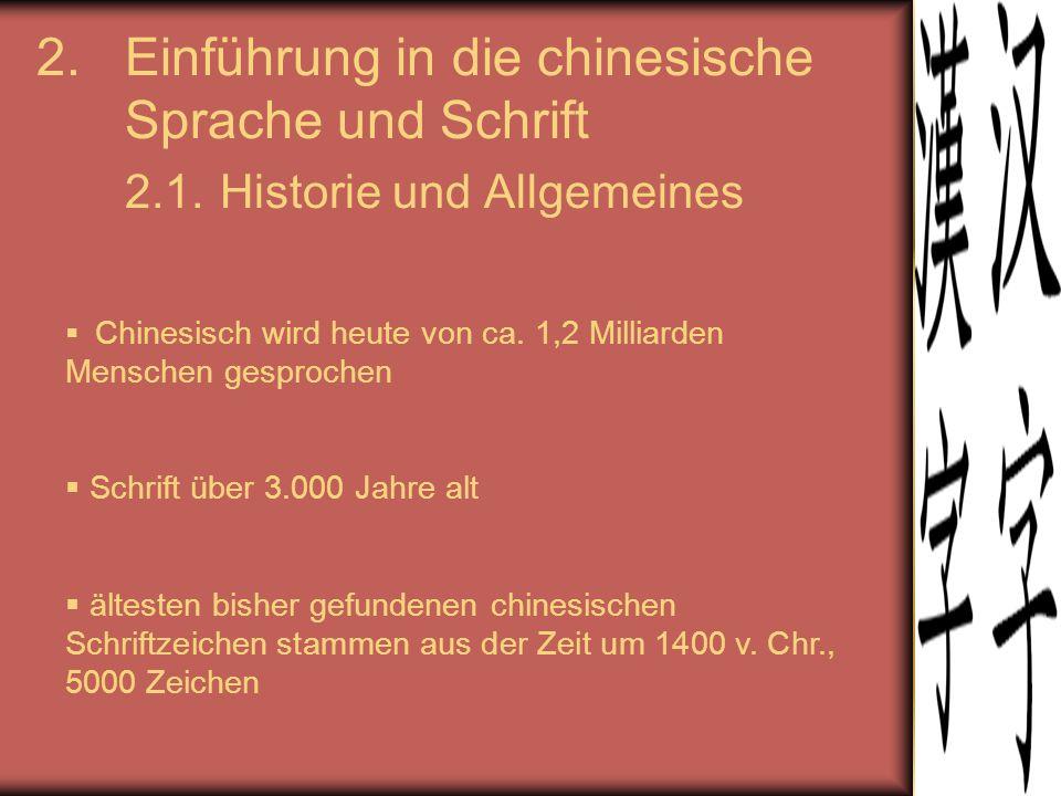 Einführung in die chinesische Sprache und Schrift 2. 1
