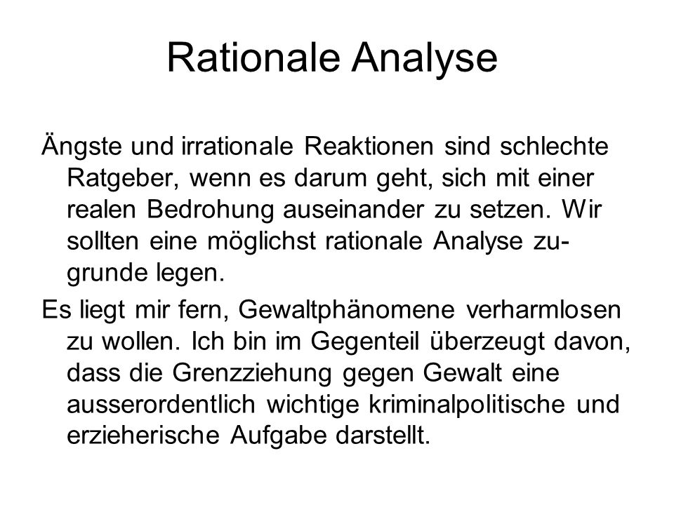 Rationale Analyse