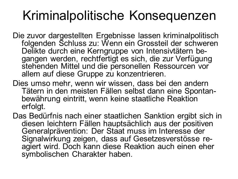 Kriminalpolitische Konsequenzen