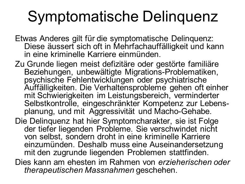 Symptomatische Delinquenz