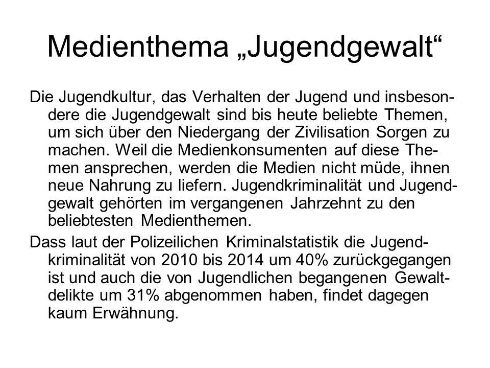 "Medienthema ""Jugendgewalt"