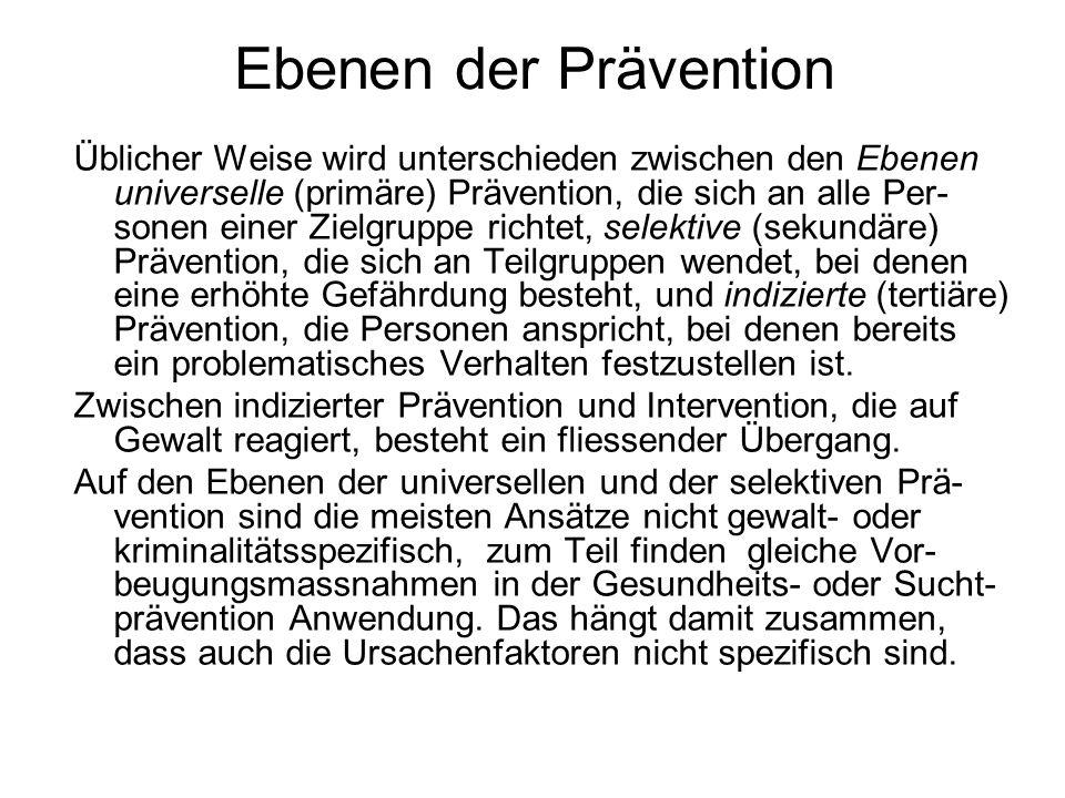Ebenen der Prävention