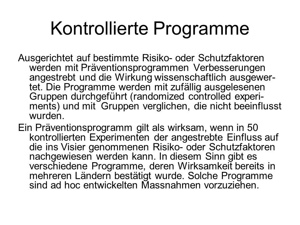 Kontrollierte Programme