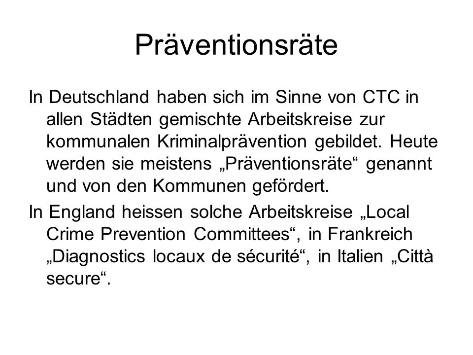 Präventionsräte