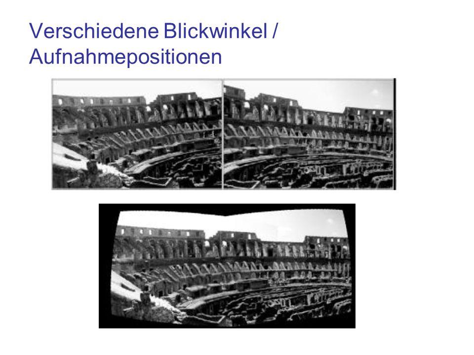 Verschiedene Blickwinkel / Aufnahmepositionen
