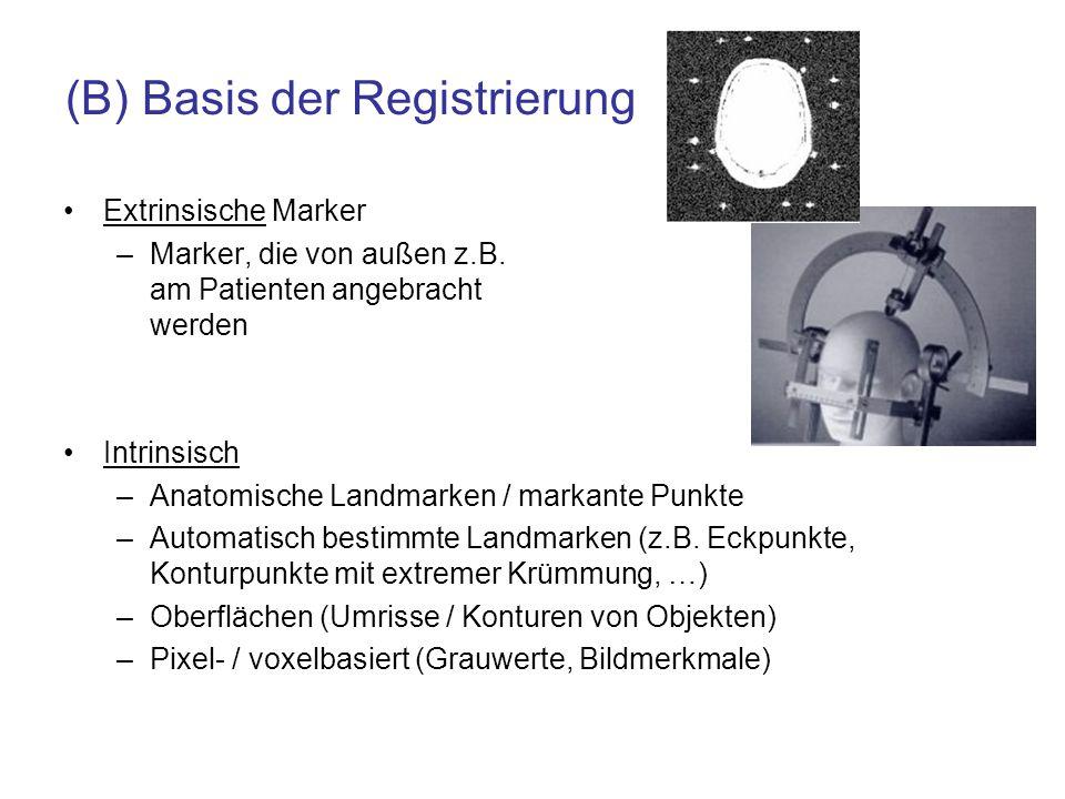(B) Basis der Registrierung