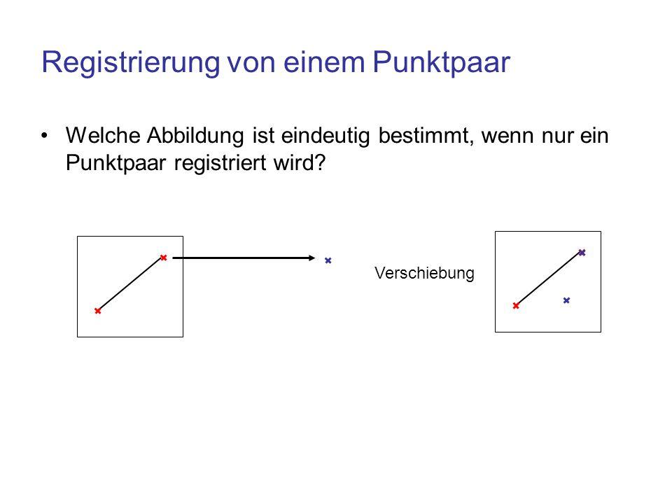 Registrierung von einem Punktpaar